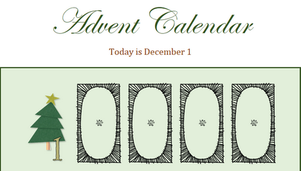 Image of an advent calendar