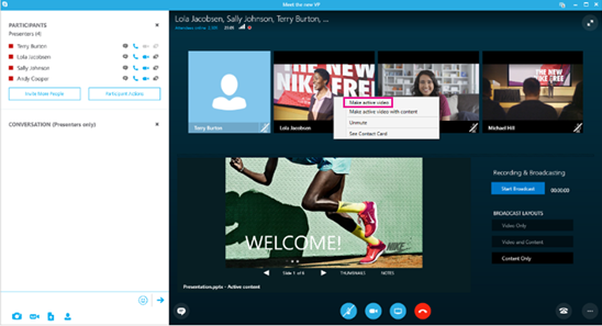 Manage a Skype Meeting Broadcast event - Skype for Business