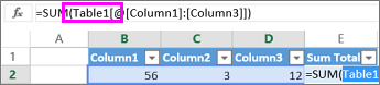 Table name appears in formulas