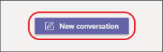 Focused New conversation button