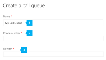 Setting up a call queue.