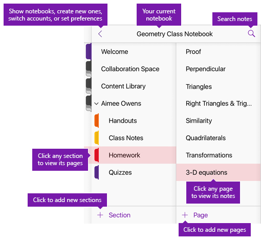 The new OneNote user interface