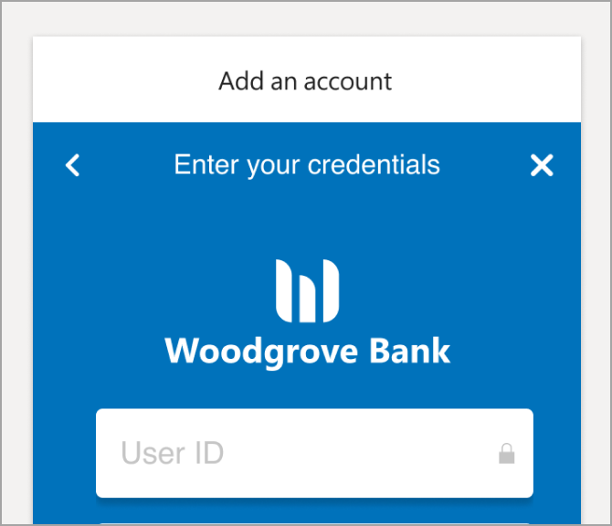 Enter your login credentials for this financial institution.