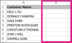 Add new column for text change data