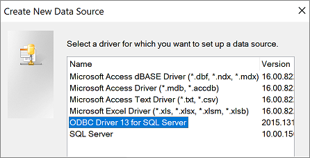 Import or link to data in an SQL Server database - Access