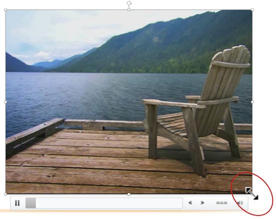 Resize the video frame
