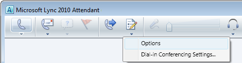 Lync Attendant Options icon
