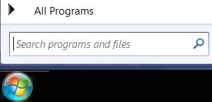 Screen shot of search programs