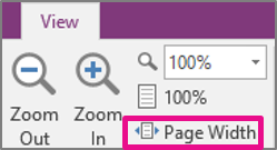 Zooming to page width