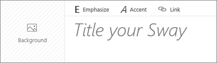 Screenshot of the Title Your Sway input box.