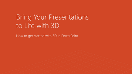Screen shot of a 3D PowerPoint template cover