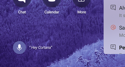 "Microphone and ""Hey Cortana"""