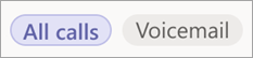 Select All calls, Missed, or Voicemail