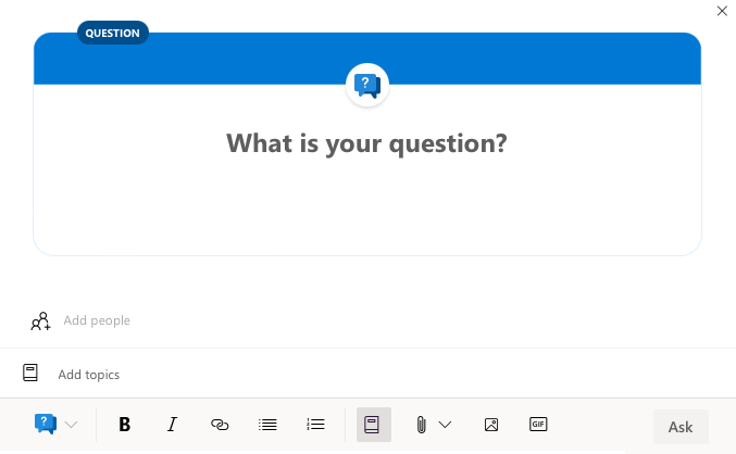 A question in Yammer