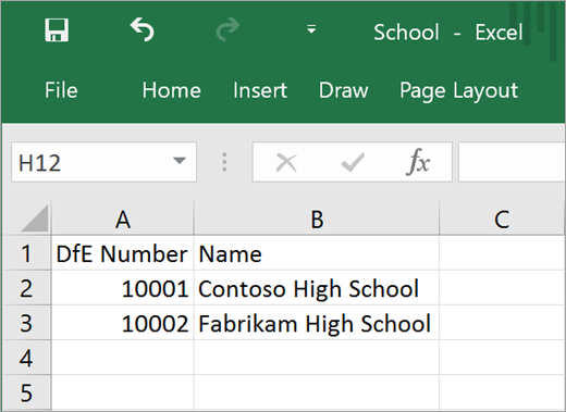 Minimum required attributes for School.csv