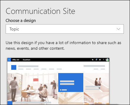 Apply a design to a SharePoint site