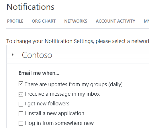 Set notifications
