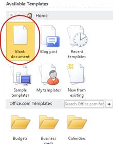 Blank document