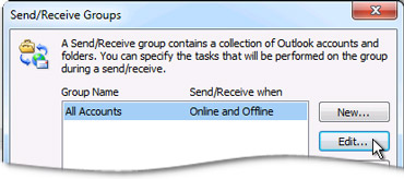Send/Receive Groups Dialog Box
