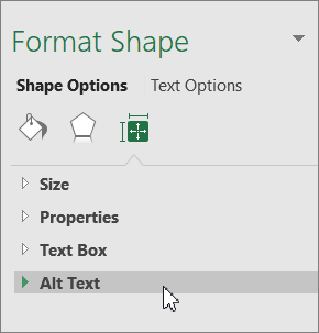 Click Alt Text in the object pane