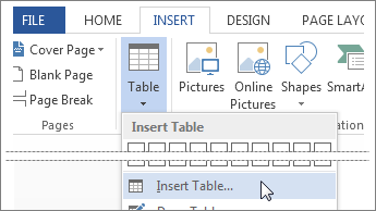 Video: Insert a table - Word