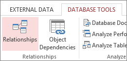 Relationships command on Database Tools tab
