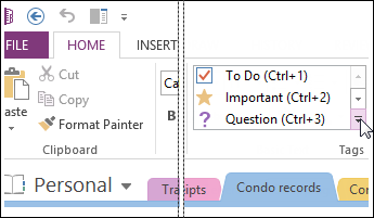 You can add a tag to categorize and prioritize your notes