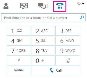 Screenshot of dial pad to call a contact