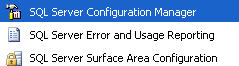 SQL Server Configuration Manager menu item