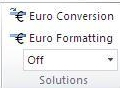 solutions group on the formulas tab