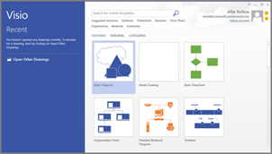 Use Visio to create flow charts, floor plans, timelines, and other kinds of drawings