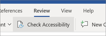 Check accessibility in Word for the web