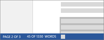 Partial word count