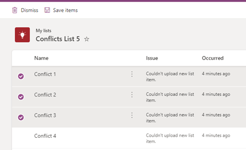 You can save the list of conflicts as a .csv file and either manually update the list with these values or simply discard them.