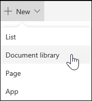 Create a Sharepoint document library