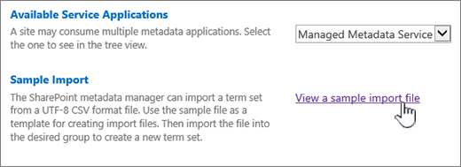 view sample import file