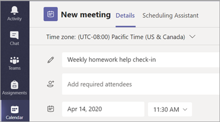 Give your meeting a title.
