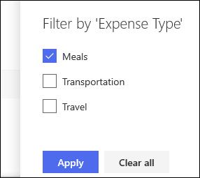 SharePoint Online List Filter Pane