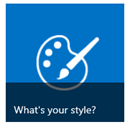 What's your style button from Getting Started tiles