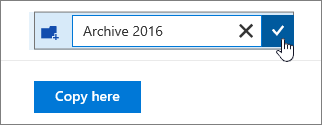 Create Folder field for Copy to with check mark highlighted