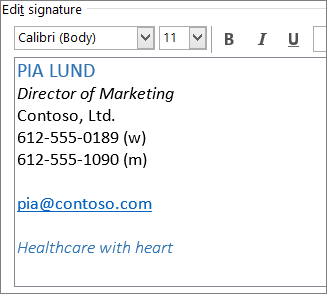 how to create email signature in outlook office 365