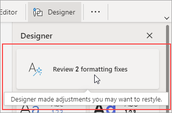Review formatting fixes