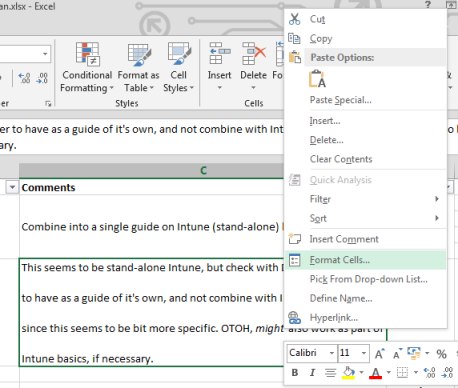 On the right-click menu, click Format Cells.