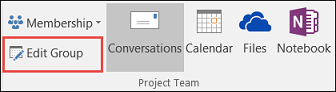 Edit a group in Outlook 2016