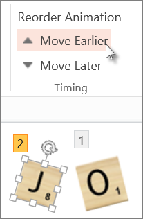 Change the order of your animations