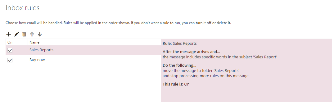 Rules and Alerts dialog box