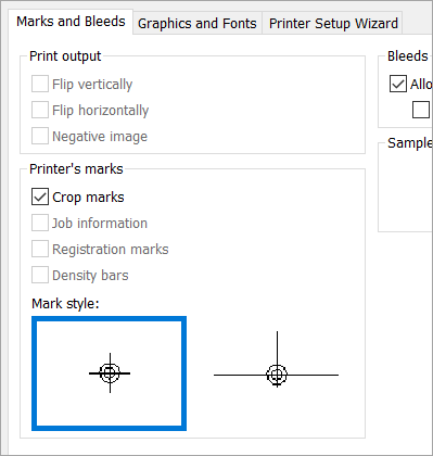Add and print crop marks in Publisher - Publisher