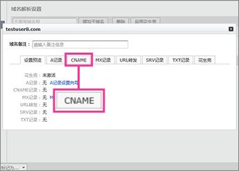 """Click """"CNAME"""""""