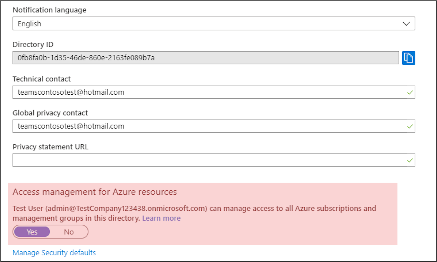Elevate permissions in Azure