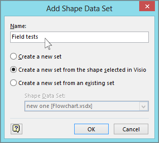 Add Shape Data Set box